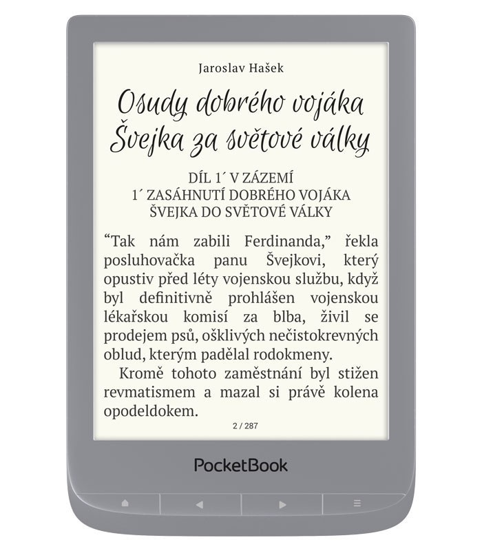 Pocketbook 627 Touch Lux 4, Carta E-Ink, Silver